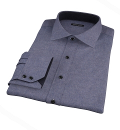 Slate Blue Heathered Flannel Tailor Made Shirt