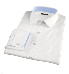 White Extra Wrinkle-Resistant Twill Custom Made Shirt