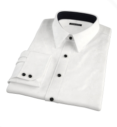 Franklin White Wrinkle-Resistant Lightweight Twill Tailor Made Shirt