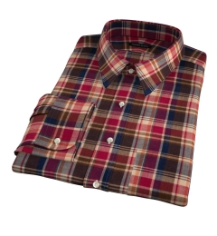 Dorado Orange Plaid Tailor Made Shirt