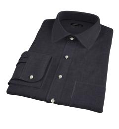 Albiate Grey Crosshatch Melange Dress Shirt