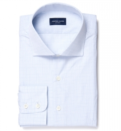 Lazio 120s Blue Multi Grid Men's Dress Shirt