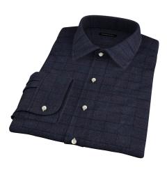 Canclini Grey Tonal Plaid Beacon Flannel Men's Dress Shirt