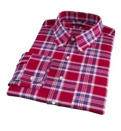 Warren Red Large Plaid Custom Made Shirt