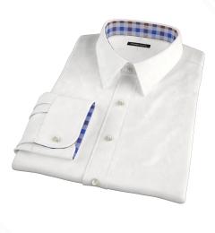 White Brushed Oxford Men's Dress Shirt