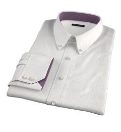 Navy on White Printed Pindot Tailor Made Shirt