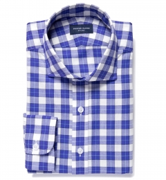 Violet Plaid Flannel Custom Made Shirt