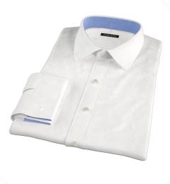 White Jacquard Weave Custom Dress Shirt