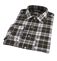 Canclini Pine Plaid Beacon Flannel Men's Dress Shirt