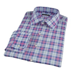 Vincent Blue Red Green Plaid Men's Dress Shirt