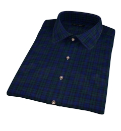 Thomas Mason Blackwatch Plaid Short Sleeve Shirt