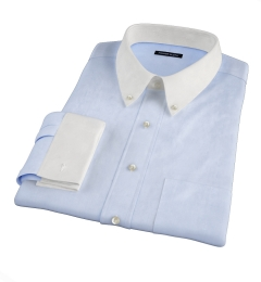Light Blue Extra Wrinkle-Resistant Pinpoint Dress Shirt