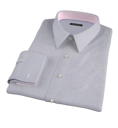 Grey 100s End-on-End Custom Dress Shirt