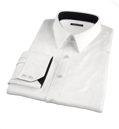 Greenwich White Twill Fitted Shirt