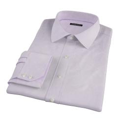 Thomas Mason Lavender Oxford Cloth Custom Made Shirt