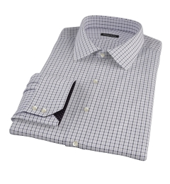 Canclini Grey 120s Multi Gingham Men's Dress Shirt