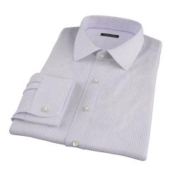 Canclini Lavender Stripe Custom Made Shirt