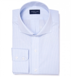 Carmine Light Blue Mini Grid Dress Shirt