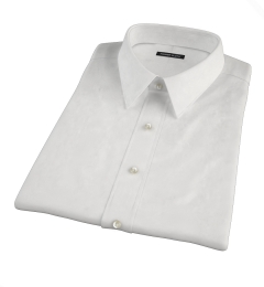 Albini Luxury White Lattice Grid Short Sleeve Shirt