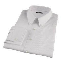 140s Lavender Fine Stripe Custom Dress Shirt