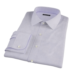 Lavender 100s Twill Fitted Shirt