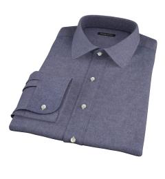 Slate Blue Heathered Flannel Tailor Made Shirt