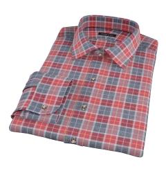 Rust Dock Street Flannel Custom Dress Shirt