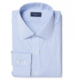 Canclini Light Blue Multi-Check Dress Shirt