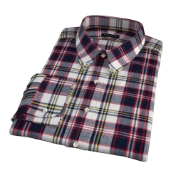 Dorado Navy Plaid Custom Dress Shirt