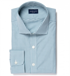 Trento 100s Sage Check Dress Shirt