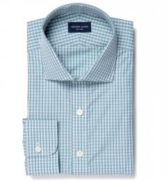 Trento 100s Sage Check Dress Shirt