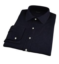 Thomas Mason Black Luxury Broadcloth Custom Dress Shirt