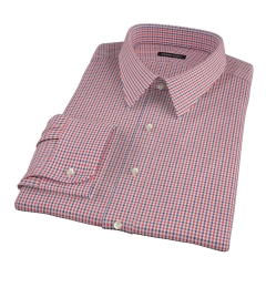 Canclini Red and Navy Multi Gingham Dress Shirt