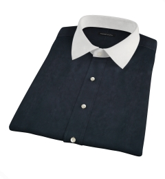 Navy Broadcloth Short Sleeve Shirt