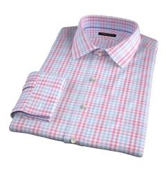 Adams Red Multi Check Men's Dress Shirt
