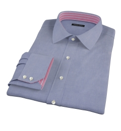 Navy Oxford Fitted Shirt