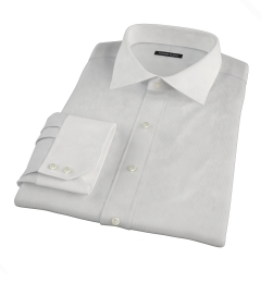 100s Pale Grey Stripe Tailor Made Shirt