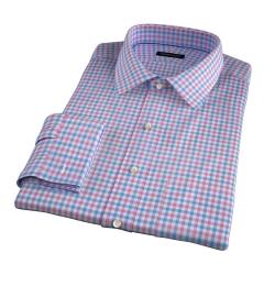 Thomas Mason Hibiscus Multi Check Custom Made Shirt