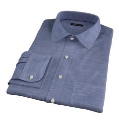 Albini Dark Blue Oxford Chambray Custom Dress Shirt