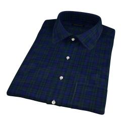 Thomas Mason Lightweight Blackwatch Plaid Short Sleeve Shirt