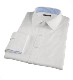 Thomas Mason White Twill Fitted Shirt