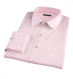 Thomas Mason Pink Wrinkle-Resistant Houndstooth Fitted Dress Shirt