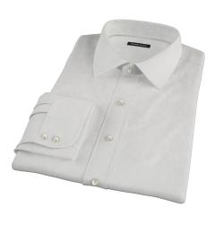 Ecru 100s Twill Fitted Dress Shirt