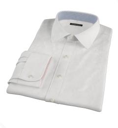 White Fine Twill Custom Made Shirt