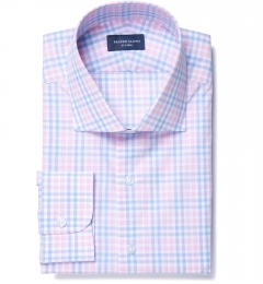 Adams Pink Multi Check Tailor Made Shirt