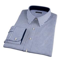 Dark Navy Medium Gingham Dress Shirt