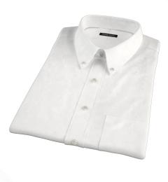 Portuguese White Fine Cotton and Linen Short Sleeve Shirt