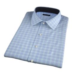 Alassio Aqua End on End Check Short Sleeve Shirt