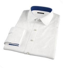 White Jacquard Weave Tailor Made Shirt