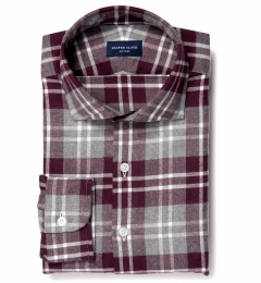 Scarlet and Cinder Large Plaid Flannel Custom Made Shirt